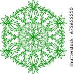 flower mandala. vintage...   Shutterstock .eps vector #673623250