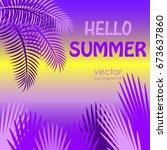 postcard on a summer theme.... | Shutterstock .eps vector #673637860