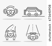 set futuristic car with modern...   Shutterstock .eps vector #673640908