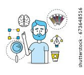 creative process with ideas... | Shutterstock .eps vector #673648516