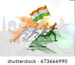 vector illustration on... | Shutterstock .eps vector #673666990