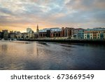 the river tyne and quayside ... | Shutterstock . vector #673669549