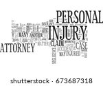 why hire a personal injury... | Shutterstock .eps vector #673687318
