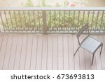 a chair waiting for someone   Shutterstock . vector #673693813