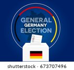 germany democracy political... | Shutterstock .eps vector #673707496