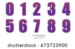 spotted purple numbers  0 9...