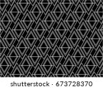 black and white wire mesh line... | Shutterstock .eps vector #673728370