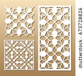 die cut card. laser cut vector... | Shutterstock .eps vector #673728826