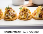 papri or papdi chat  also known ... | Shutterstock . vector #673729600