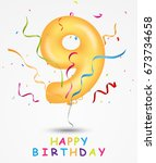 happy birthday  celebration... | Shutterstock .eps vector #673734658