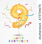 happy birthday  celebration... | Shutterstock . vector #673734670