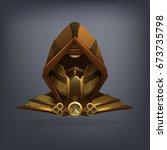 iron fantasy armor helmet for