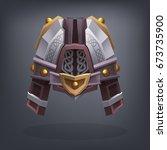 iron fantasy armor helmet for... | Shutterstock .eps vector #673735900