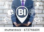 business intelligence concept.... | Shutterstock . vector #673746604