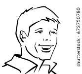 young man smiling vector... | Shutterstock .eps vector #673750780