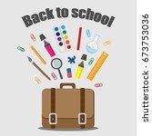vector illustration of back to... | Shutterstock .eps vector #673753036