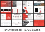 red and white modern... | Shutterstock .eps vector #673766356