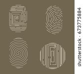 fingerprint vector icons set... | Shutterstock .eps vector #673775884