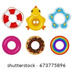 inflatable float rubber ring... | Shutterstock .eps vector #673775896