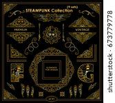 vector steampunk elements.... | Shutterstock .eps vector #673779778