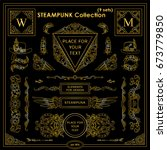 vector steampunk elements.... | Shutterstock .eps vector #673779850