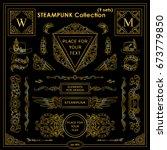 vector steampunk elements.... | Shutterstock .eps vector #673779850