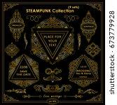 vector steampunk elements.... | Shutterstock .eps vector #673779928