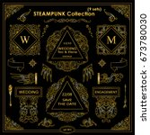 vector steampunk elements.