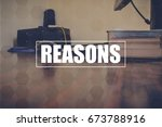 Small photo of reasons with blurring business office background