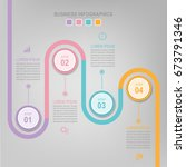 infographic template of... | Shutterstock .eps vector #673791346