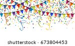 seamless colored garlands ... | Shutterstock .eps vector #673804453