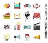 elements of cinematography...   Shutterstock .eps vector #673820470