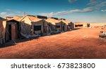 marine military camp  nobody ... | Shutterstock . vector #673823800