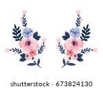 Stock vector flower pattern 673824130