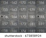 iron lockers with numbers   Shutterstock . vector #673858924