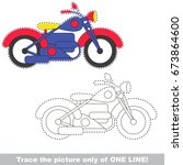 motor bike to be traced only of ... | Shutterstock .eps vector #673864600