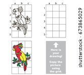 copy the picture using grid... | Shutterstock .eps vector #673865029