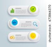 infographic presentation... | Shutterstock .eps vector #673866370
