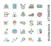 set of business line icons....