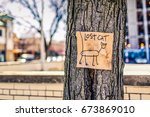 Lost Sign On A Lampost In A...