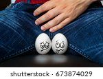 male suffering with pain in the ... | Shutterstock . vector #673874029