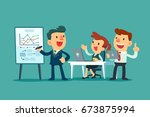 business team working together... | Shutterstock .eps vector #673875994