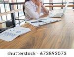 bussiness concept  bussiness... | Shutterstock . vector #673893073