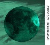 blue planet in smokey universe...   Shutterstock . vector #67390069