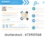 business infographics set with... | Shutterstock .eps vector #673905568