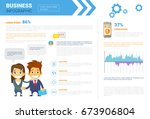 business infographics set with...   Shutterstock .eps vector #673906804