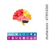 brain vector icon | Shutterstock .eps vector #673913260