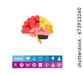 brain vector icon   Shutterstock .eps vector #673913260