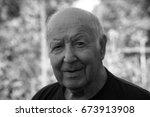 an elderly man  | Shutterstock . vector #673913908