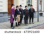 deventer  netherlands  december ... | Shutterstock . vector #673921600